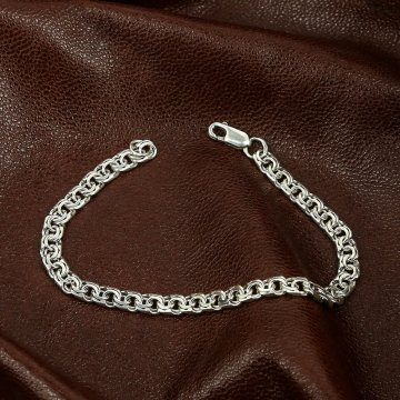 Серебряный браслет Бисмарк 20 см (ширина 0,6 см)