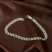 Серебряный браслет Бисмарк 21,5 см (ширина 0,55 см)