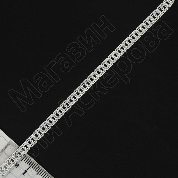 Серебряный браслет Бисмарк 17 см (ширина 0,5 см)
