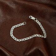 Серебряный браслет Бисмарк 17 см (ширина 0,45 см)