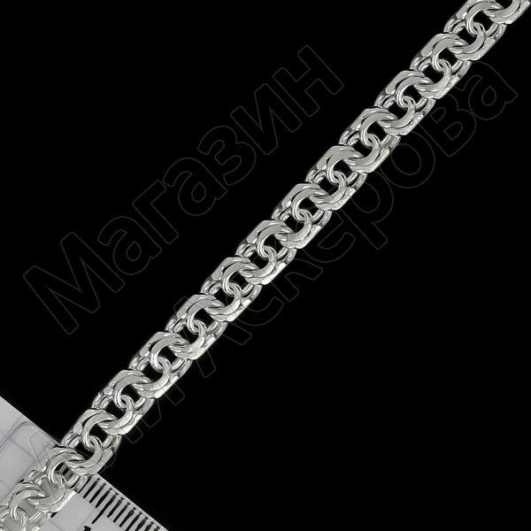 Серебряный браслет Бисмарк 21,5 см (ширина 0,6 см) арт.12143