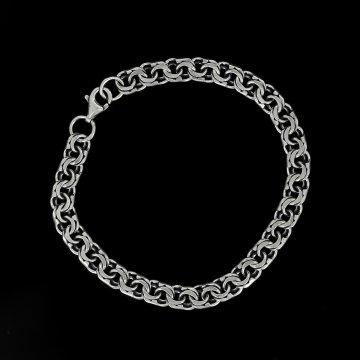 Серебряный браслет Бисмарк 22 см (ширина 0,65 см)