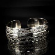 Серебряный кубачинский браслет с чернением арт.517