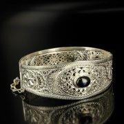 Кубачинский серебряный браслет с филигранью арт.6346