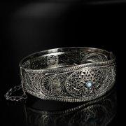 Кубачинский серебряный браслет с филигранью арт.6353