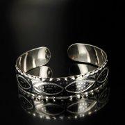 Серебряный кубачинский браслет с чернением арт.6359