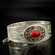 Кубачинский серебряный браслет с филигранью арт.6887