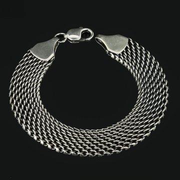 Серебряный браслет Милан 23 см (ширина 1,55 см)