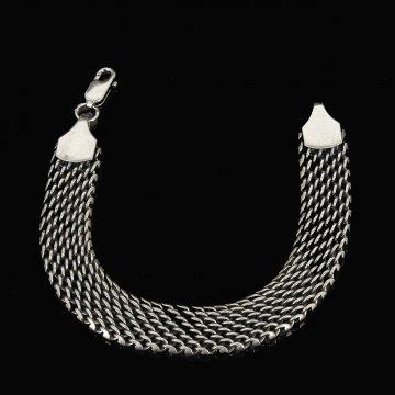 Серебряный браслет Милан 19 см (ширина 1,25 см)