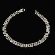 Серебряный браслет Кобра 20 см (ширина 0,7 см) арт.7161