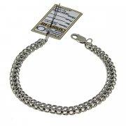 Серебряный браслет Кобра 22 см (ширина 0,7 см)