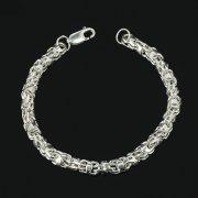 Серебряный браслет Гавайка 21 см (ширина 0,6 см)
