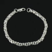 Серебряный браслет Гавайка 20 см (ширина 0,5 см) арт.7173