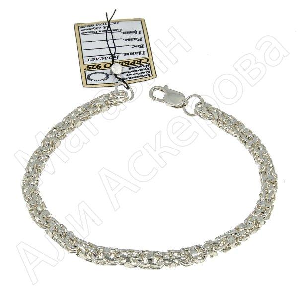 Серебряный браслет Гавайка 22 см (ширина 0,4 см)