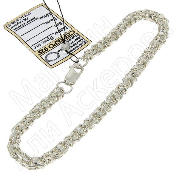 Серебряный браслет Гавайка 20 см (ширина 0,4 см)