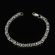 Серебряный браслет Гавайка 22 см (ширина 0,6 см)