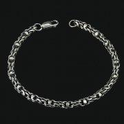 Серебряный браслет Гавайка 22 см (ширина 0,5 см)