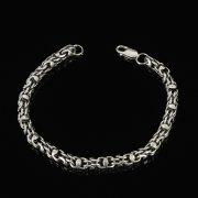Серебряный браслет Гавайка 23 см (ширина 0,5 см)