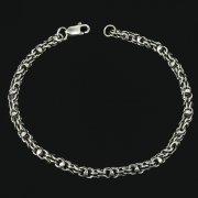 Серебряный браслет Гавайка 24 см (ширина 0,4 см)