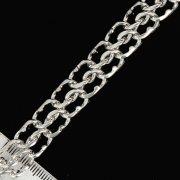 Серебряный браслет Кобра 21 см (ширина 1,2 см)