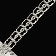 Серебряный браслет Кобра 20 см (ширина 1,2 см)