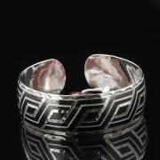 Серебряный кубачинский браслет с чернением арт.7641