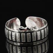 Серебряный кубачинский браслет с чернением арт.7644