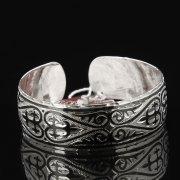 Серебряный кубачинский браслет с чернением арт.7645