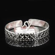 Серебряный кубачинский браслет с чернением арт.7646
