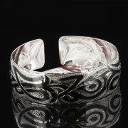 Серебряный кубачинский браслет с чернением арт.7648