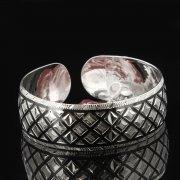Серебряный кубачинский браслет с чернением арт.7649