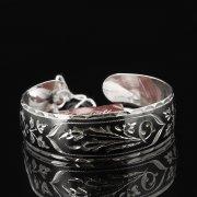 Серебряный кубачинский браслет с чернением арт.7650