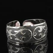 Серебряный кубачинский браслет с чернением арт.7651
