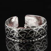 Серебряный кубачинский браслет с чернением арт.7653