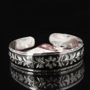 Серебряный кубачинский браслет с чернением арт.7655