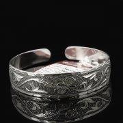 Серебряный кубачинский браслет с гравировкой арт.7657