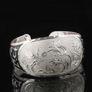 Серебряный кубачинский браслет с чернением арт.7659