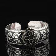 Серебряный кубачинский браслет с чернением арт.7660