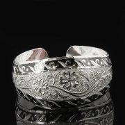 Серебряный кубачинский браслет с чернением арт.7661