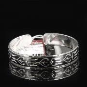 Серебряный кубачинский браслет с чернением арт.7662