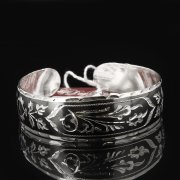 Серебряный кубачинский браслет с чернением арт.7672