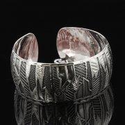 Серебряный кубачинский браслет с гравировкой арт.7675