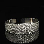 Серебряный кубачинский браслет белый арт.9280