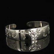 Серебряный кубачинский браслет белый арт.9283