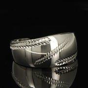 Серебряный кубачинский браслет белый арт.9284