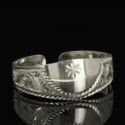 Серебряный кубачинский браслет белый арт.9285