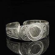 Серебряный кубачинский браслет белый арт.9287