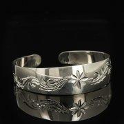 Серебряный кубачинский браслет белый арт.9292