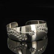 Серебряный кубачинский браслет белый арт.9293