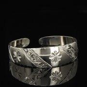 Серебряный кубачинский браслет белый арт.9295